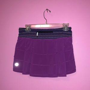 Lululemon - purple pleated skirt